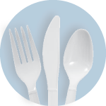 White Cutlery