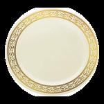 Decor Plate Cream/Gold
