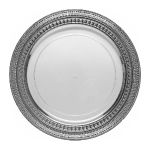 Symphony Plate Clear/Silver