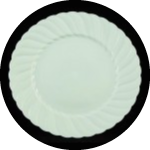 White round fluted plates