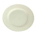 Ivory round fluted plates
