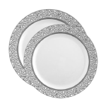 Inspiration Plate White/Silver