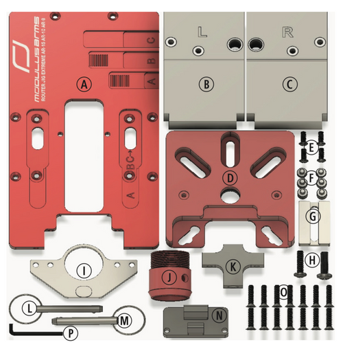 Replacement Parts for Universal AR -308, -15, -9 and AR-10 80% Lower Jig - Router Jig Extreme™