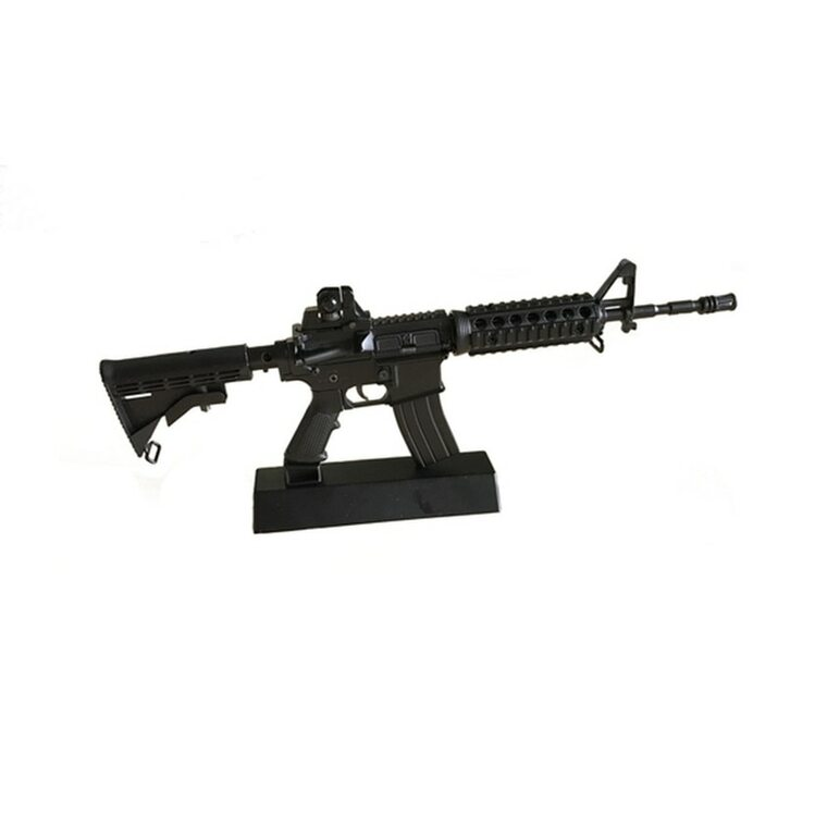 Miniature Metal M4A1 AR-15 Rifle with Display Stand