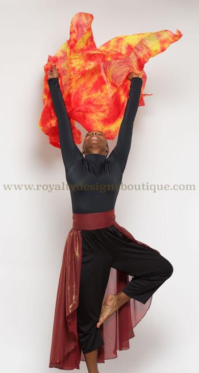 Watercolor SILK FIRE VEIL /Manto de fuego!!