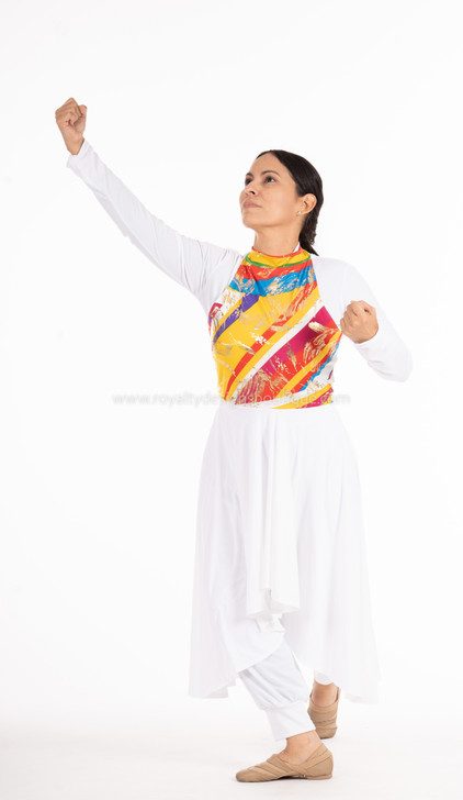JUBILEE Tunic-Multicolor and white