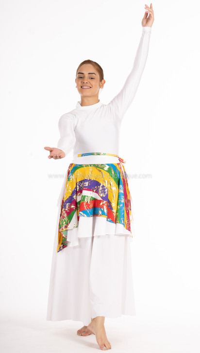 JUBILEE Skirt white and multicolor