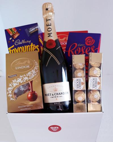 Moet Champagne & Chocolate Basket