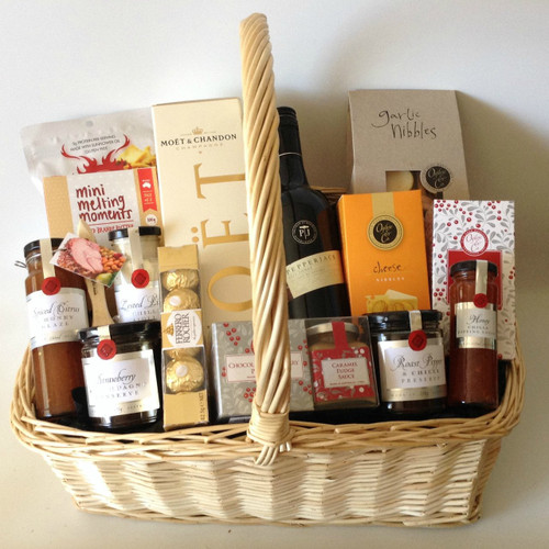 Champagne & Red Wine Gift Basket