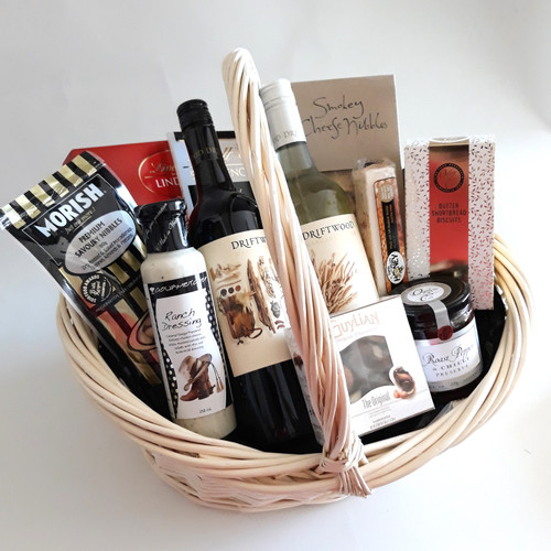 Gourmet Gift basket with margaret River Wines and gourmet treats