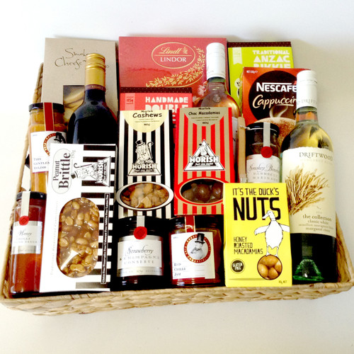 Gourmet Red, White & Nibbles Basket