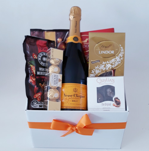 Veuve Cliquot, Lindt & Nuts Gift Basket
