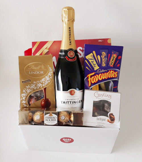 Taittinger Champagne & Chocolate Hamper