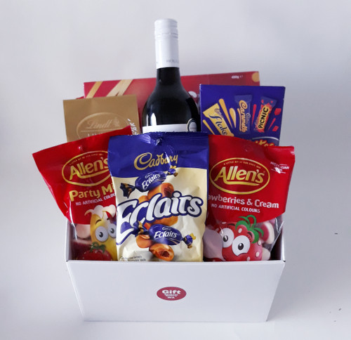 Red Wine Choc & Lolly Hamper