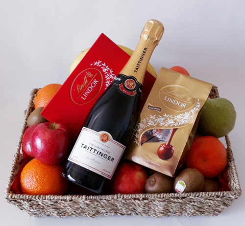 Taittinger Fruit & Choc Basket