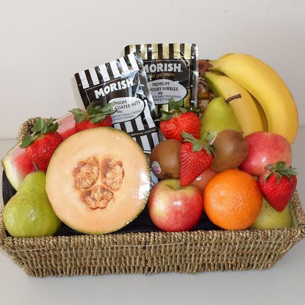 Delicious Fresh fruit with Morish Savoury Nuts