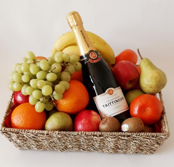 Fruit & Taittinger Champagne Basket