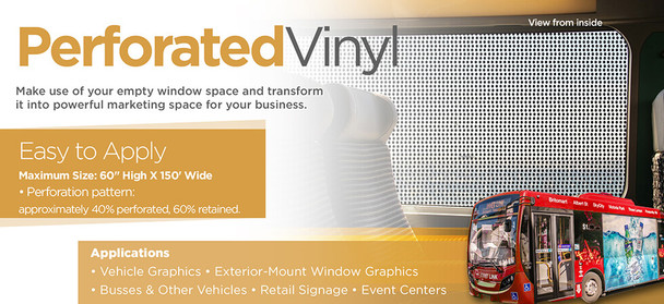 Perforated Vinyl Signs