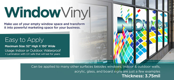 Window Vinyl Signs