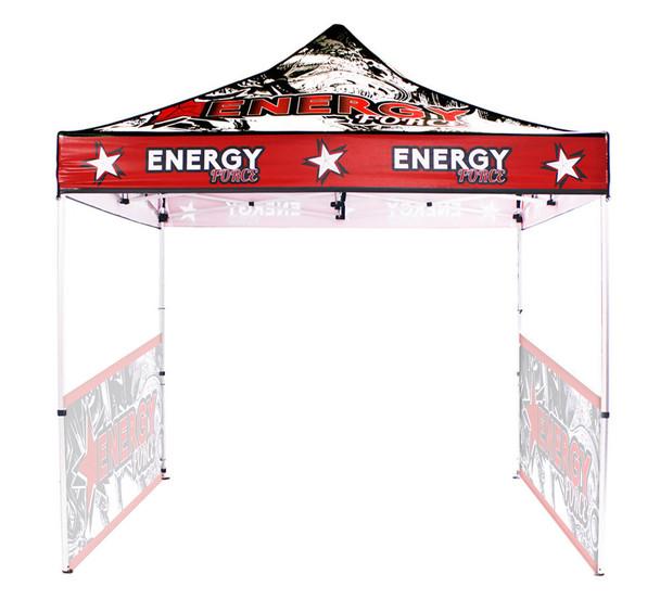 10FT Outdoor UV Canopy Tent Frame+Top+2 half Sidewall Singleside