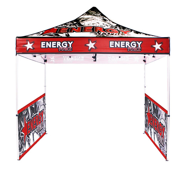 10FT Outdoor UV Canopy Tent Frame+Top+2 half Sidewall Doubleside