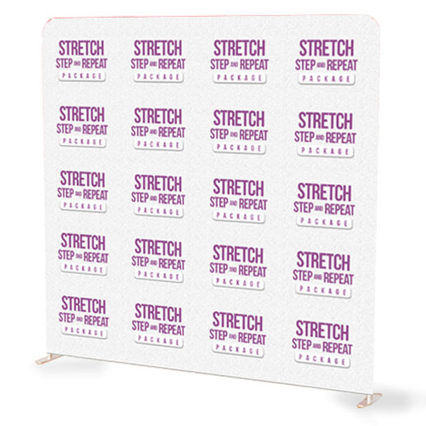 8FT x 8FT Step and Repeat Stretch Fabric Display