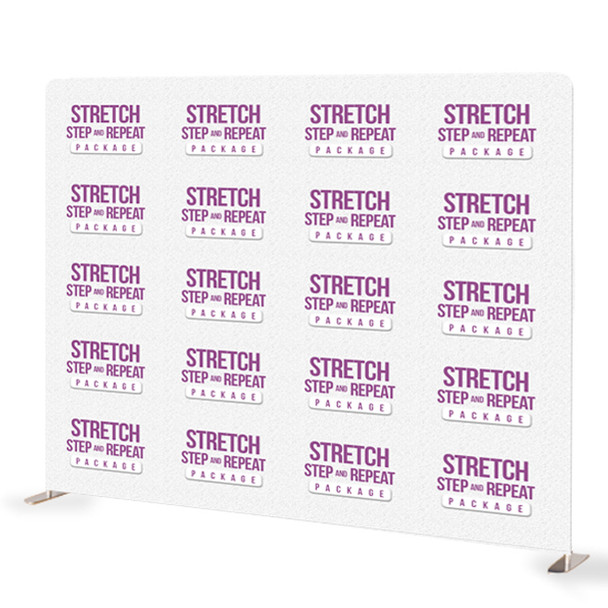 8FT x 10FT Step and Repeat Stretch Fabric Display