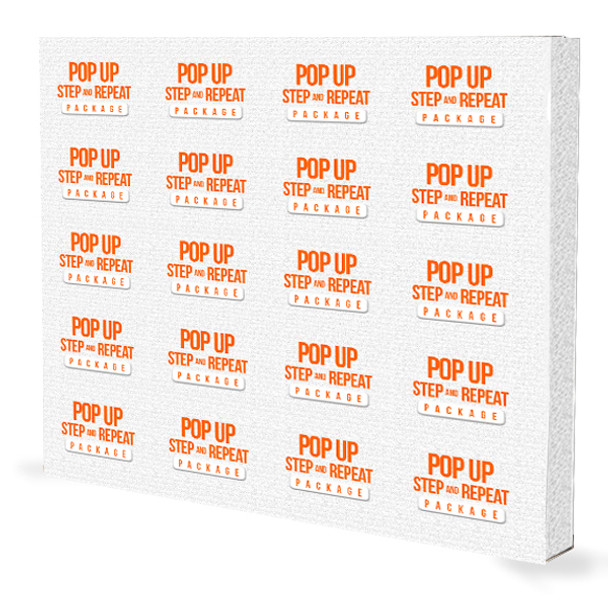8FT x 10FT Step and Repeat Fabric Pop Up Display