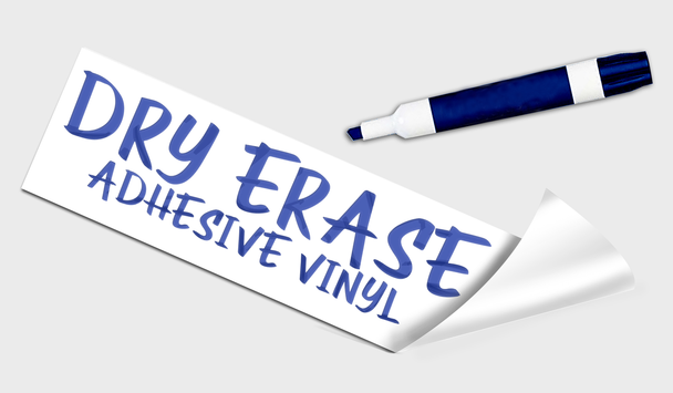 Dry Erase Adhesive Vinyl Signs