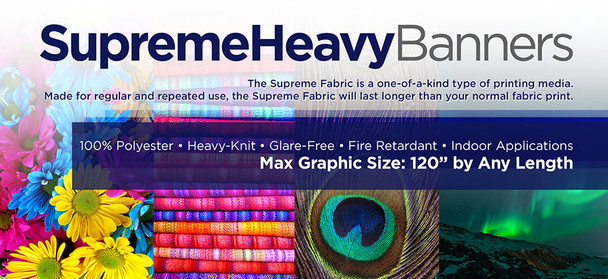SupremeHeavy Banners 7 FT and Smaller