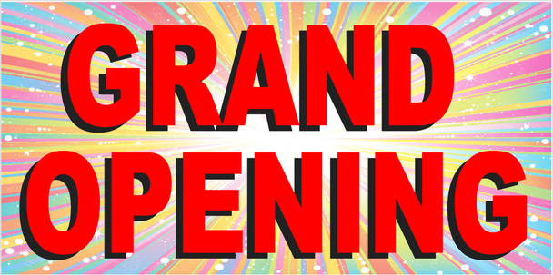 Pre-Printed Banner - Grand Opening 1