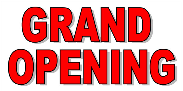Pre-Printed Banner - Grand Opening 2