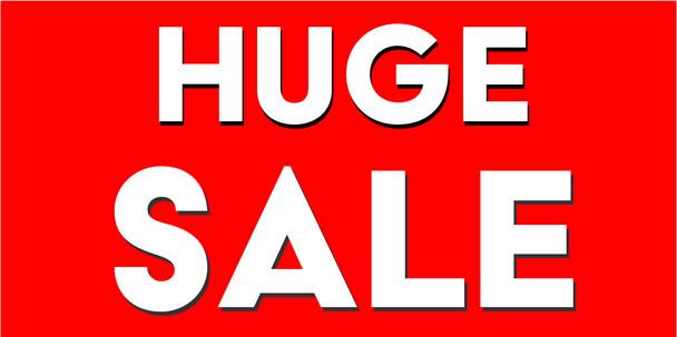Pre-Printed Banner -  Huge Sale 1