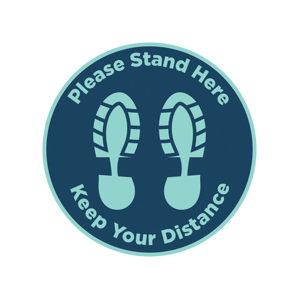 Floor Graphics - Please Stand Here