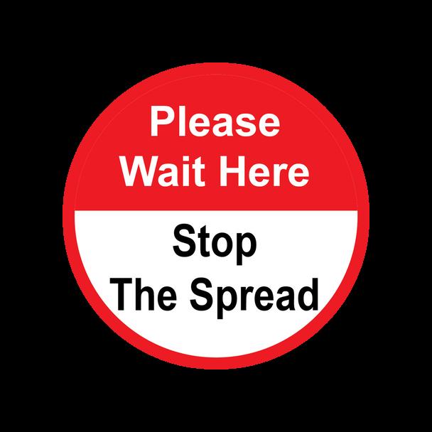 Floor Graphics - Please Wait Here 3