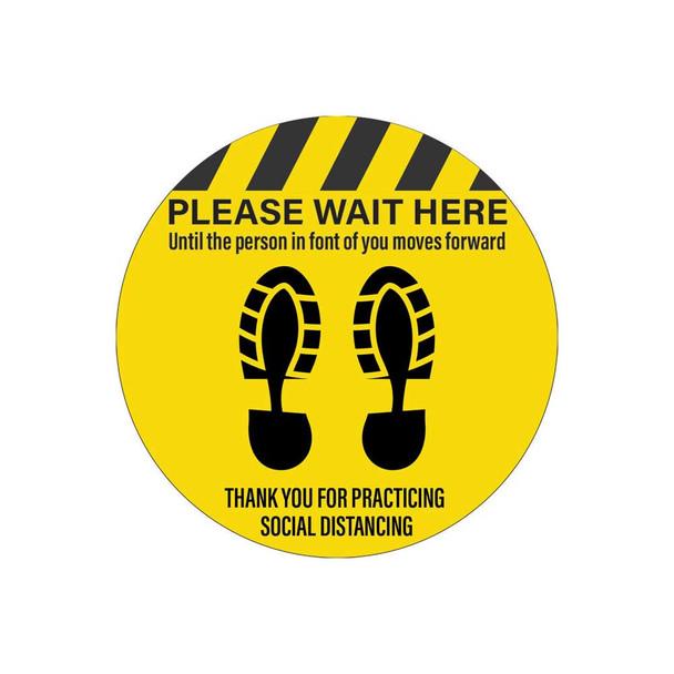 Floor Graphics - Please Wait Here Until...
