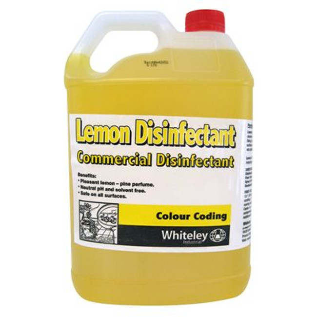 LEMON DISINFECTANT 5LT WHITELEY
