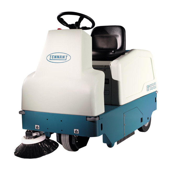 Tennant 6100  Battery Ride on Sweeper.