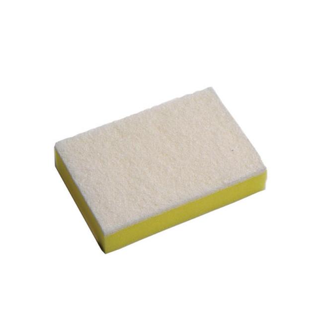 SPONGE SCOURER WHITE/YELL 150X100 SABCO