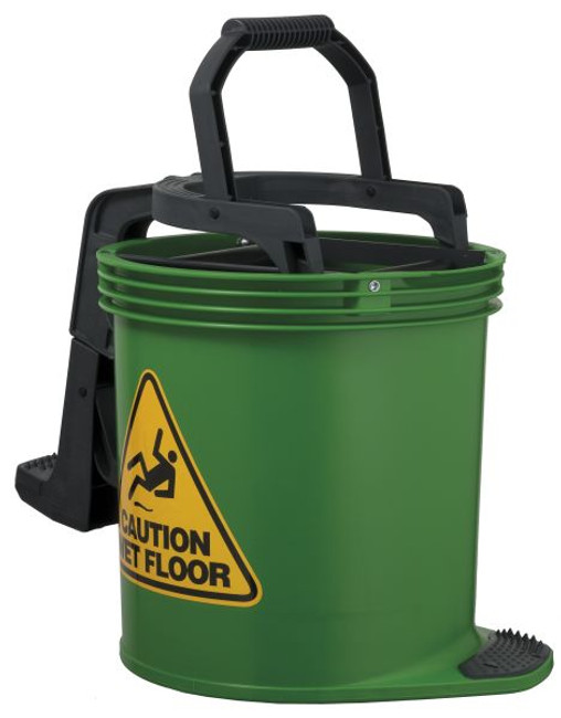 Green DuraClean Mark II Wringer Bucket