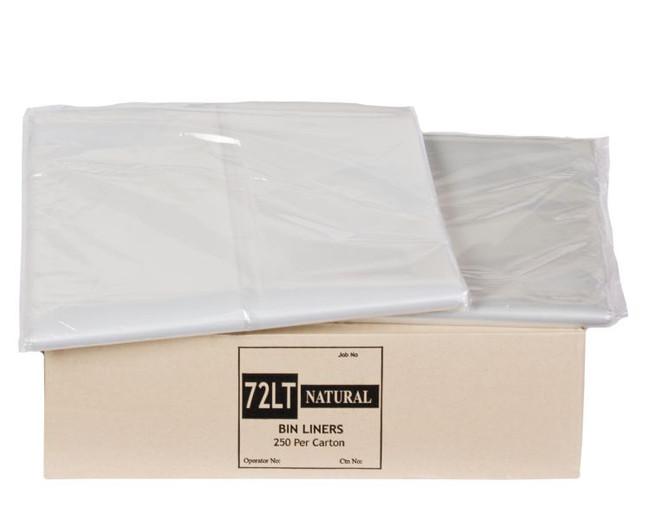 Natural 72LT Bin Liner NAT72 250/CTN