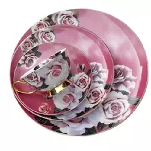 Vintage Rose Porcelain Set in Blush Pink