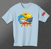 Front - Summer Bay - Youth Short Sleeve Tee
