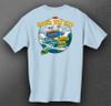 CWB Fishing Team Short Sleeve Tee back in sky blue