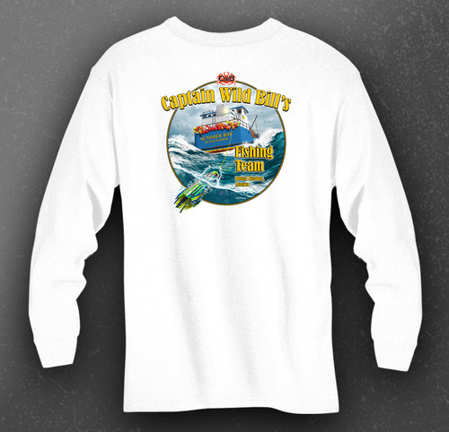 CWB Fishing Team Performance Shirt back in white