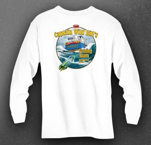 CWB Fishing Team Performance Shirt back in white