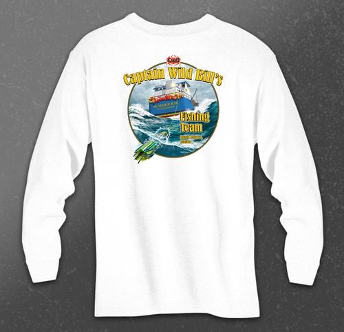 CWB Fishing Team Long Sleeve Tee back in white