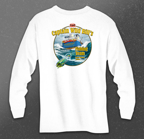 CWB Fishing Team Long Sleeve Tee back in white