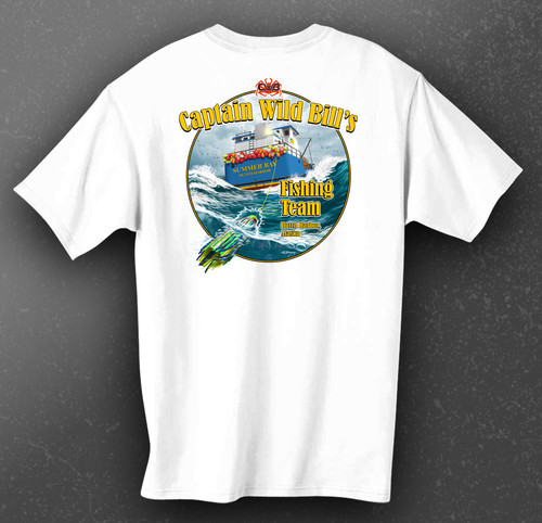 CWB Fishing Team Short Sleeve Tee back in white