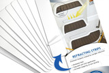 """Our professionally die-cut """"Refracting Strips"""" diffuse focused sunlight reflecting on to your OrthoDek™ flooring, thus preventing damage and protecting you investment for years to come!"""